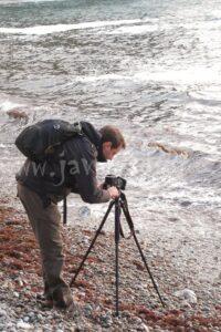 Practicando larga exposición en la Playa del Silencio, Asturias